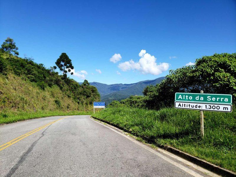 Estrada em Visconde de Mauá